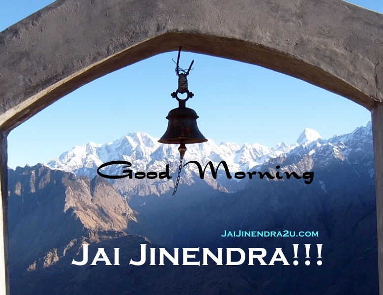 Jai Jinendra - Good Morning Wallpaper Greetings With Beautiful Religious Hills Scenery